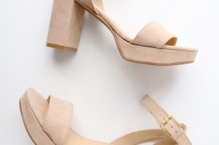 CL by Laundry Go On Heels - Nude Suede Platform Hee