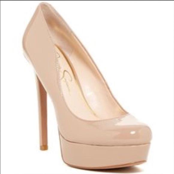 LC Lauren Conrad Shoes | Nude Platform Heels | Poshma