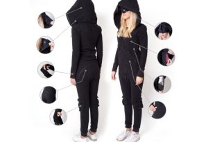 Inflatable one piece jumpsuit designed for travelling and comfort .