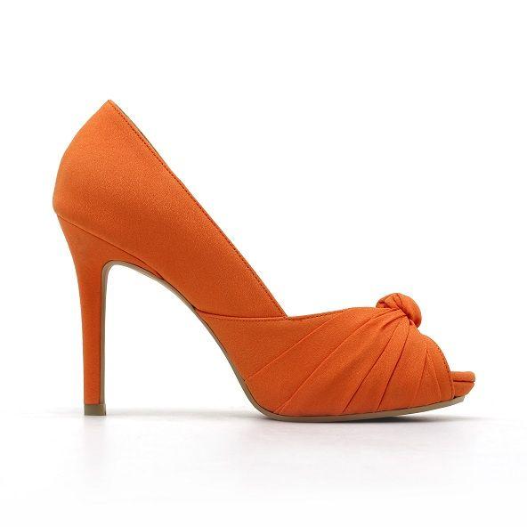 Burnt Orange Wedding Shoes   Orange Wedding Shoes Pumpkin orange .