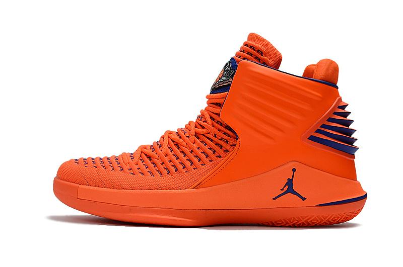 Nike Air Jordan XXXII AJ32 Orange Blue Men's Sneaker Basketball .