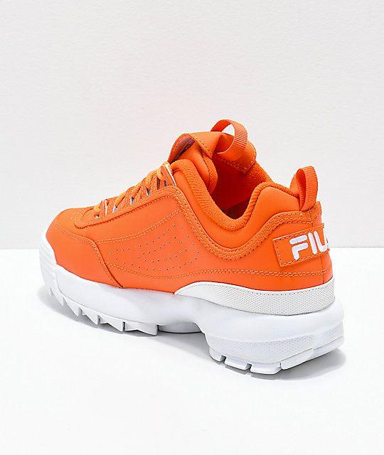 FILA Disruptor II Orange Shoes   Orange shoes, Sneakers .