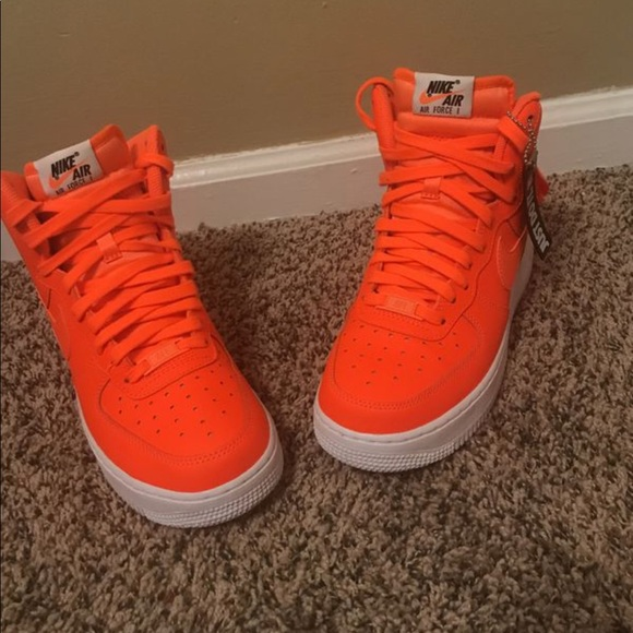 Nike Shoes   2018 Orange Air Force Ones   Poshma