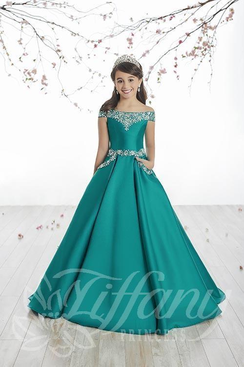 Tiffany Princess 13513 Pageant Dress   MadameBridal.c