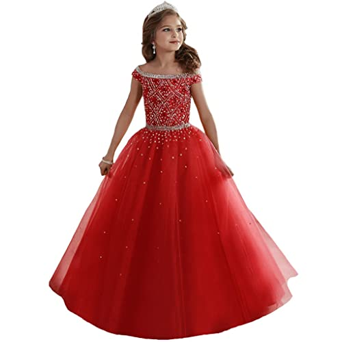Red Pageant Dress: Amazon.c