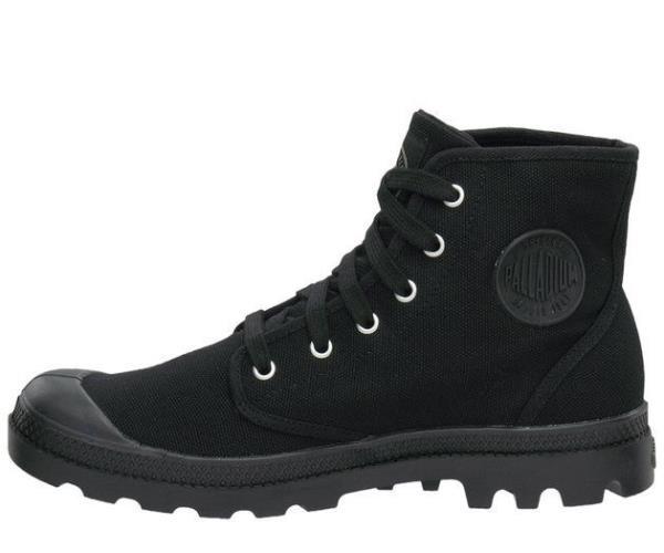 Palladium Footwear Men's Pampa Hi Canvas Black Boots Shoes 02352 .