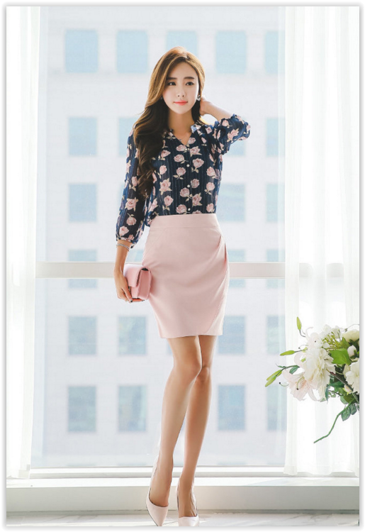 All Korean Fashion items up to 70% OFF! Styleonme - Shirred Pencil .
