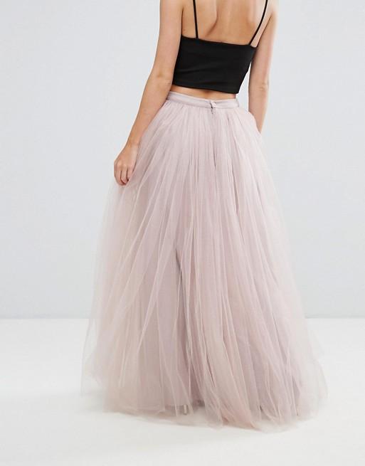 Little Mistress Petite Maxi Tulle Prom Skirt | AS
