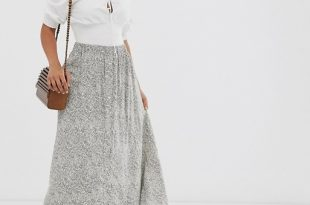 Y.A.S Petite maxi skirt in paisley print | AS