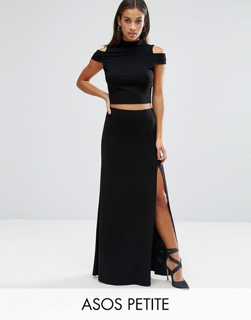 ASOS PETITE Maxi Skirt with Thigh Split | AS