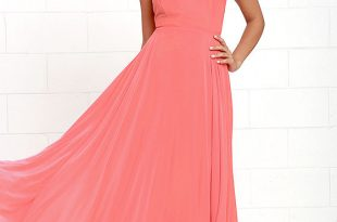 Orange Dresses: Gives Attractive Look To Brides   Peach maxi .