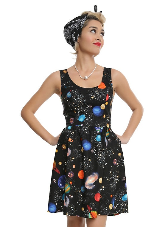 Bright Planets Fit & Flare Dre