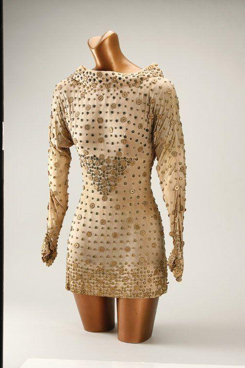 Forbidden Planet (1956) flesh colored mini dress worn by Anne .