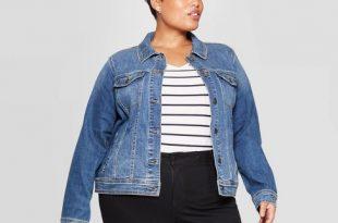 Women's Plus Size Jean Jacket - Ava & Viv™ Medium Wash : Targ