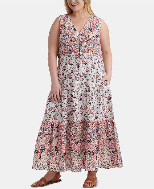 Lucky Brand Plus Size Cotton Chloe Maxi Dress & Reviews .