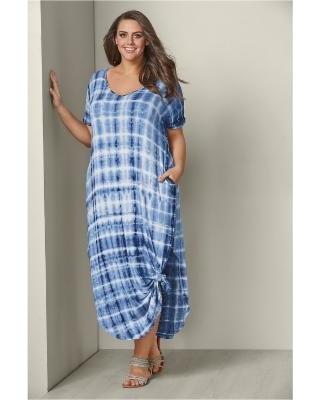 "Find Savings on ""Plus Size Casual Maxi Dress Dresses - Blue/mult"
