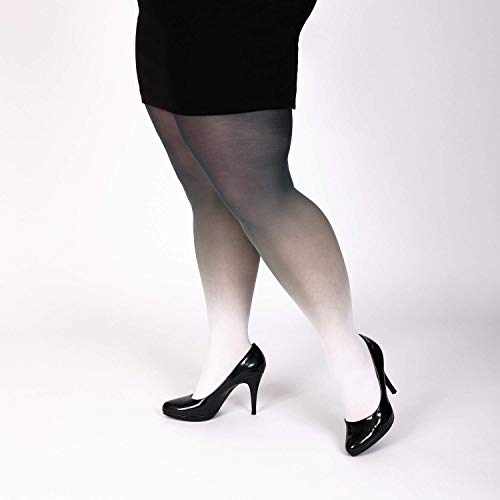 Amazon.com: Black White Tights Plus Size Leggings: Handma