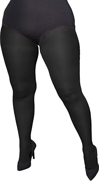 Adrian beautiful plus size opaque tights Amy 60 Denier at Amazon .