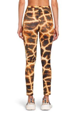 Giraffe Chine printed leggings   Roberto Cavalli Leggin