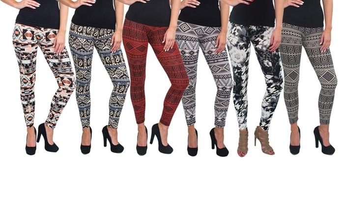 Women's Printed Leggings (6-Pack)   Group