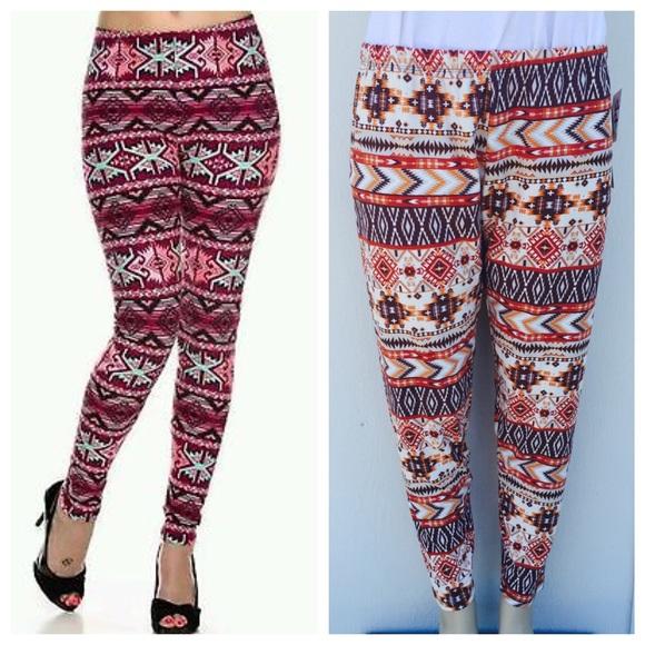 Pants   4 For 20 Plus Size Printed Leggings   Poshma