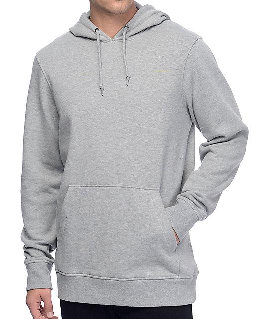 Zine Standard Fleece Heather Grey Pullover Hoodie   Zumi