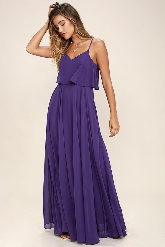 Stunning Purple Dress - Maxi Dress - Gown - $78.