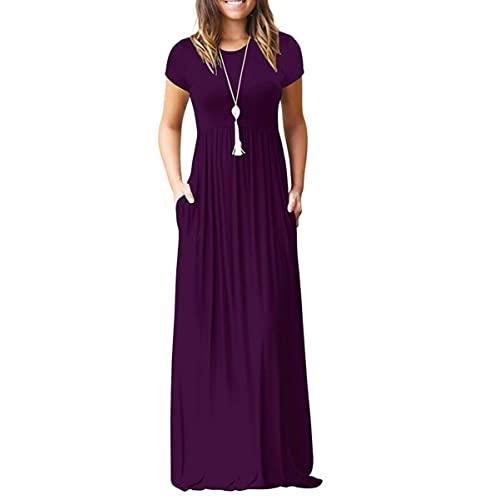 Purple Maxi Dress: Amazon.c