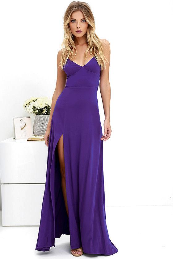 Purple Maxi Dresses