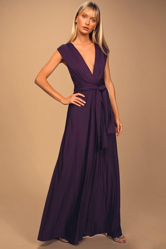 Pretty Purple Maxi Dress - Convertible Dress -Infinity Dre