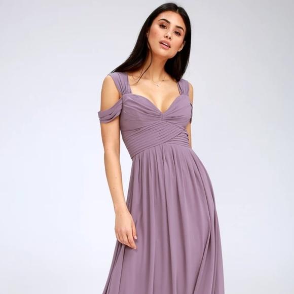 Lulu's Dresses   Lulus Make Me Move Dusty Purple Maxi Dress   Poshma