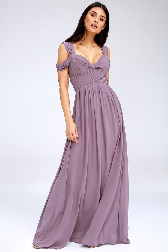 Lovely Dusty Purple Dress - Maxi Dress - Bridesmaid Dre