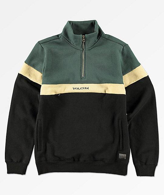 Volcom Boys Rainer Polo Quarter Zip Sweatshirt   Zumi