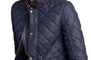 Vedoneire Men's Navy Quilted Jacket (3039) Padded Quilt Coat Blue .