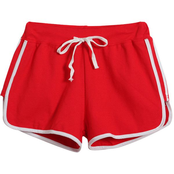Chicnova Fashion Contrast Color Bound Shorts ($11) ❤ liked on .