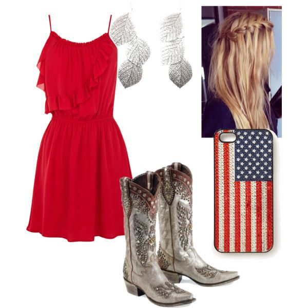 red sundress | Country girls outfits, Red sundress, Country outfi