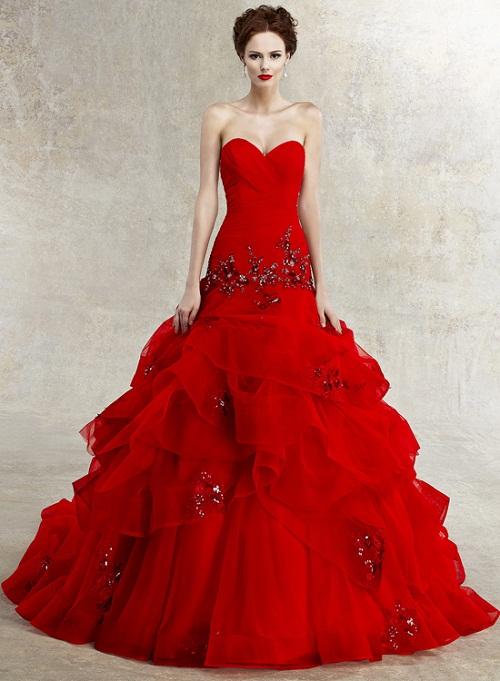 Red wedding dresses vera wang | Modern Fashion Styl