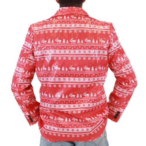 Sequin Humping Reindeer ugly Christmas Blazer Jack