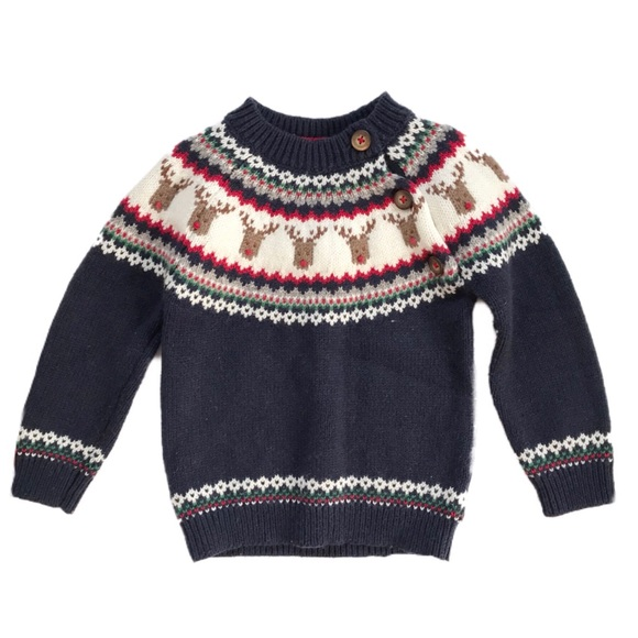 Mini Boden Shirts & Tops | Rudolph Reindeer Sweater 1218 | Poshma