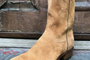 Tan Rough-Out Roper Boots - Space Cowboy Boots N