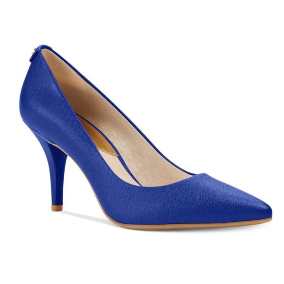 Michael Kors Shoes | Flex Mid Royal Blue Pumps | Poshma
