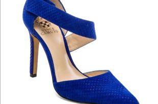 Vince Camuto Shoes   Charlotte Fishskin Royal Blue Pumps   Poshma