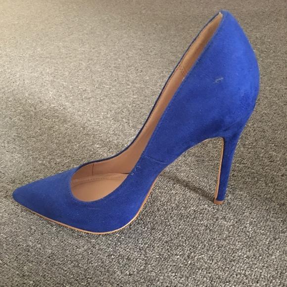 Shoe Republic LA Shoes | Pointed Toe Royal Blue Pumps | Poshma