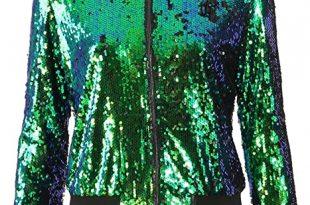 Amazon.com: Momo&Ayat Fashions Ladies Evening Sequin Bomber Jacket .