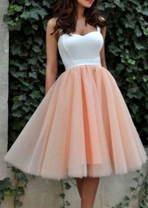 Cute tulle short prom dress, cute homecoming dress, women fashion .