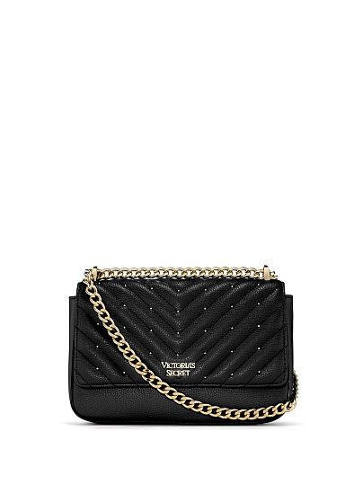 Studded V-Quilt Small Bond Street Shoulder Bag - Victoria's Secr