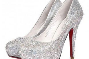 Silver Celebrities Love Super High Heels Sparkle Prom Shoes (With .