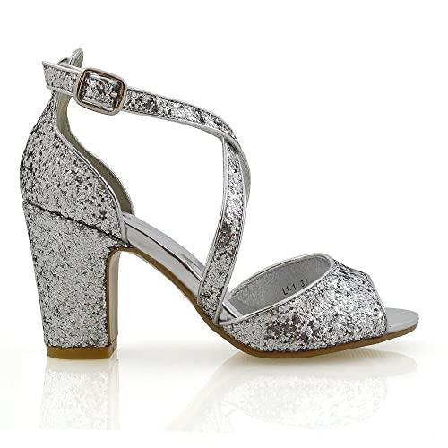 Silver Sparkly Heels: Amazon.c
