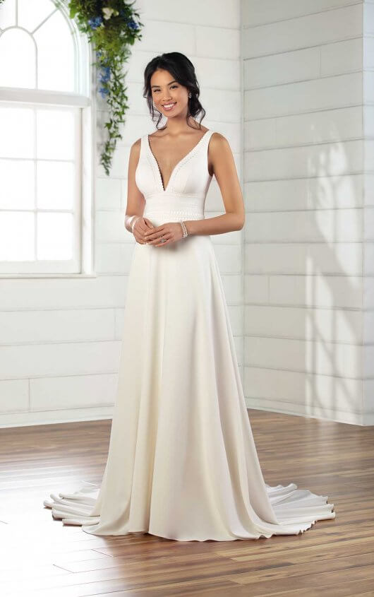 Simple Wedding Dress with Boho Detail