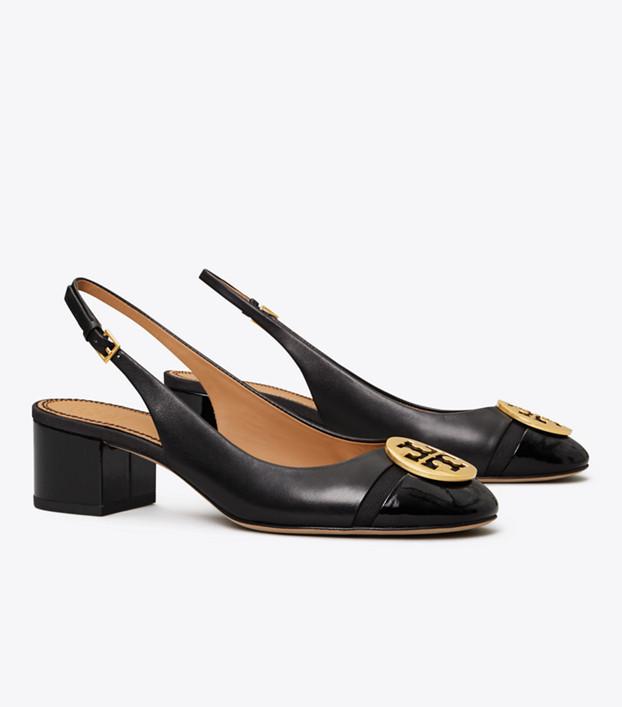 Tory Burch Minnie Cap-toe Slingback Pump: Women's Shoes   Tory Bur
